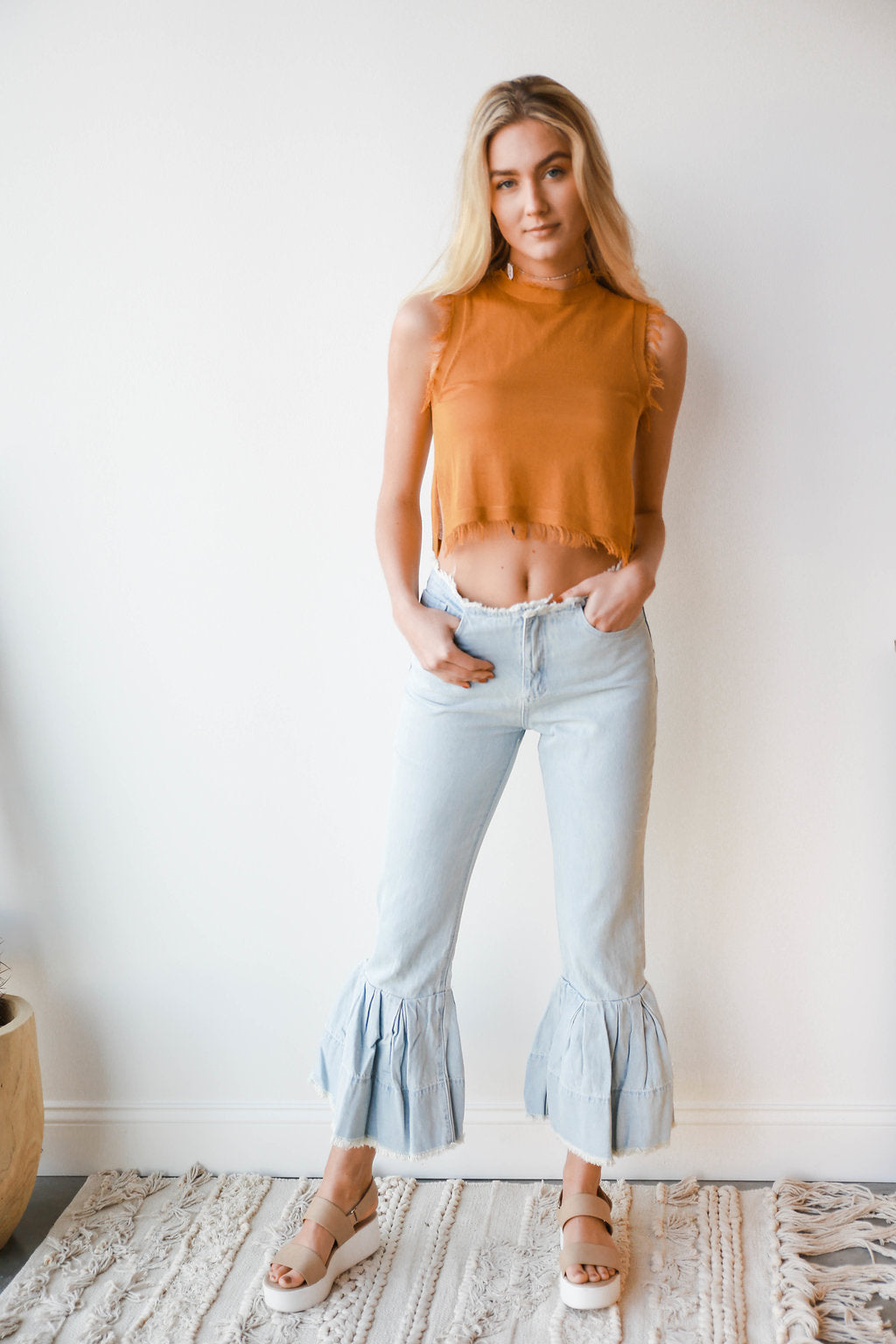 [shop name], deep thoughts fringe edge top