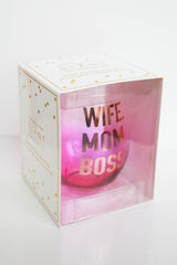 mode, 30 oz stemless wine glass