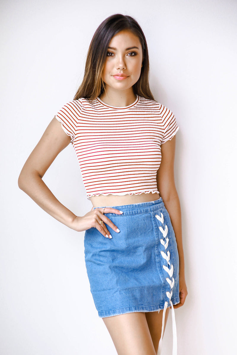 mode, Sunnyside cropped tee