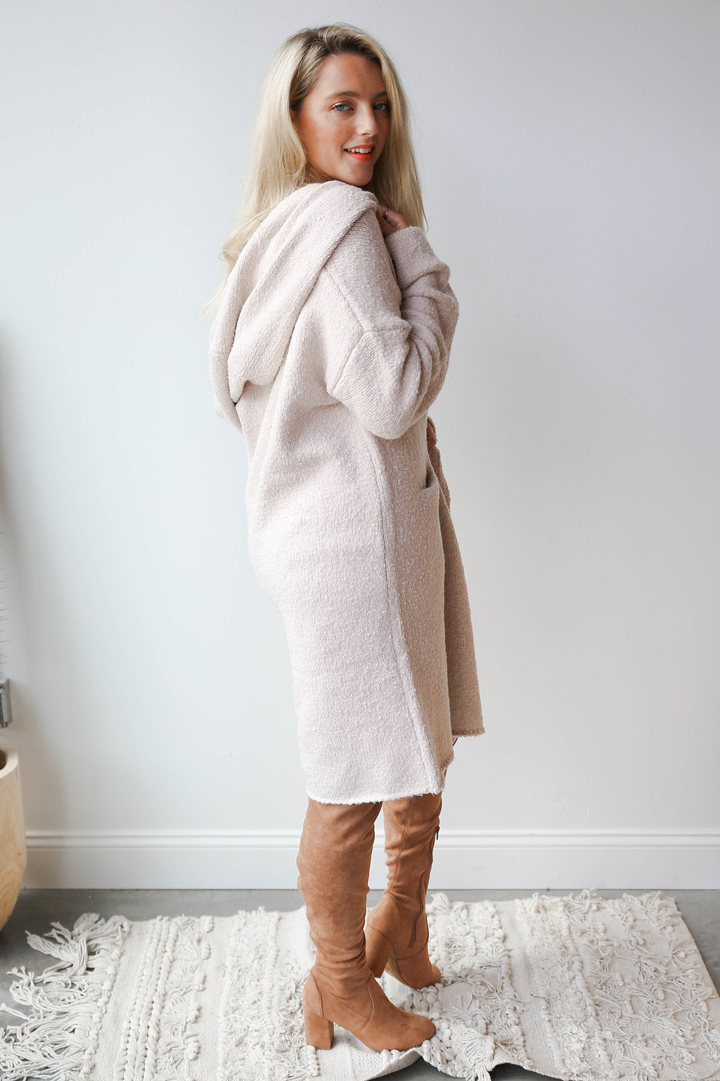 oversized 2 pocket cardi