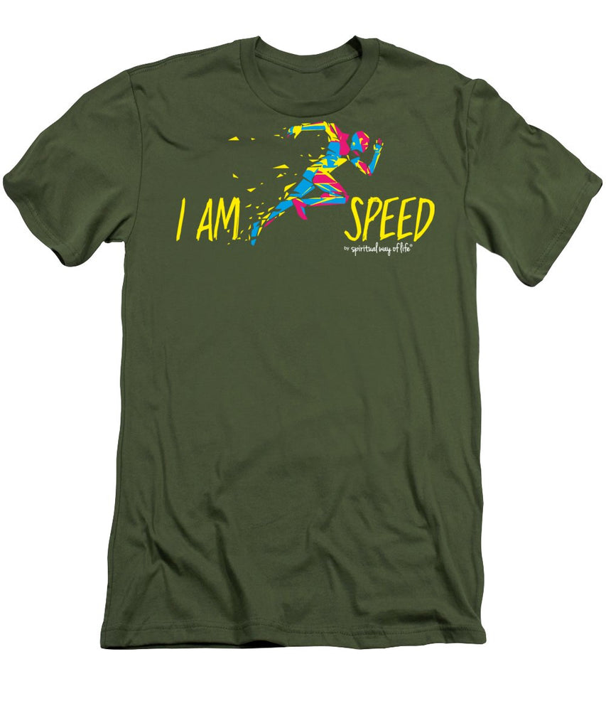 I Am Speed - Men's T-Shirt (Athletic Fit) -  Five Dimensions Spiritual Clothing