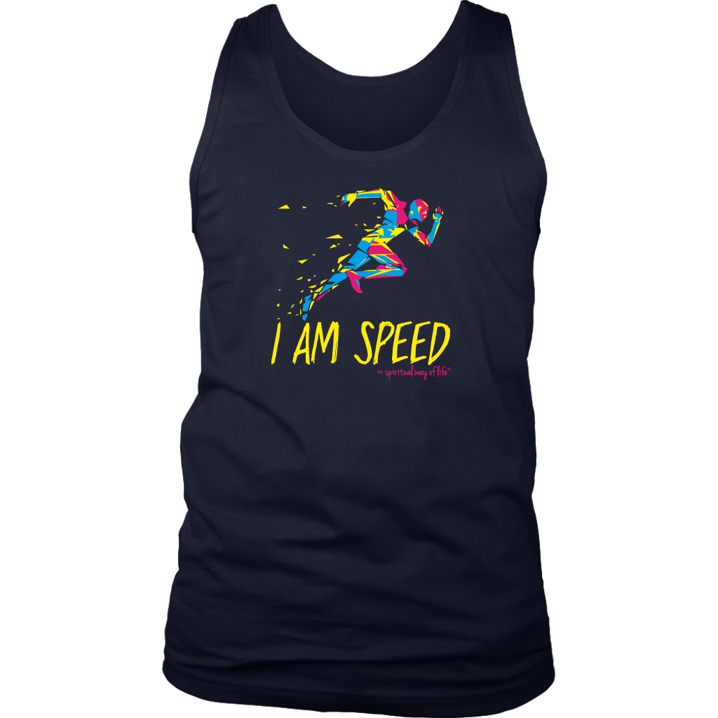 I am Speed Mens Tank -  Five Dimensions Spiritual Clothing