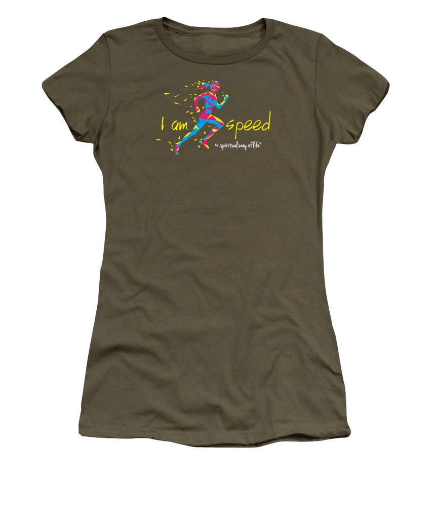 I Am Speed - Women's T-Shirt (Athletic Fit) -  Five Dimensions Spiritual Clothing