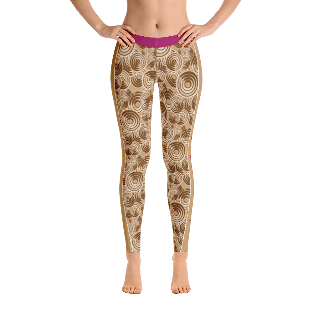 I am meditation zen earth leggings -  Five Dimensions Spiritual Clothing
