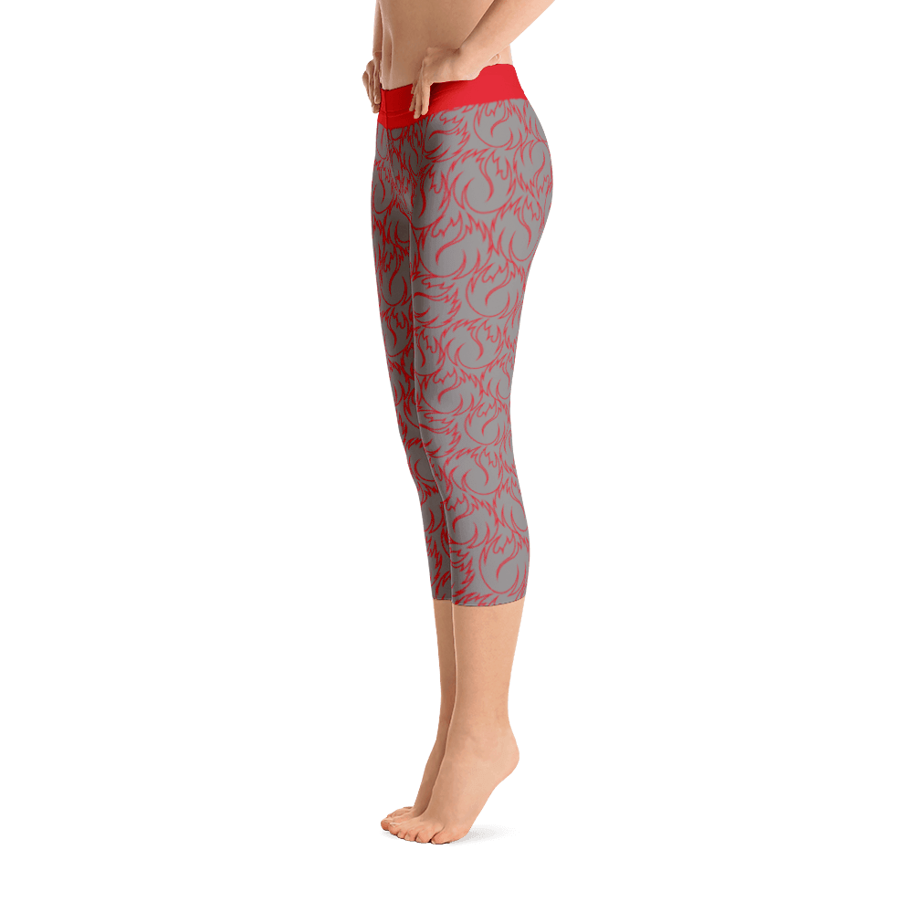 I am fire Capri Leggings,  Five Dimensions - Spiritual Clothing - Five Dimensions
