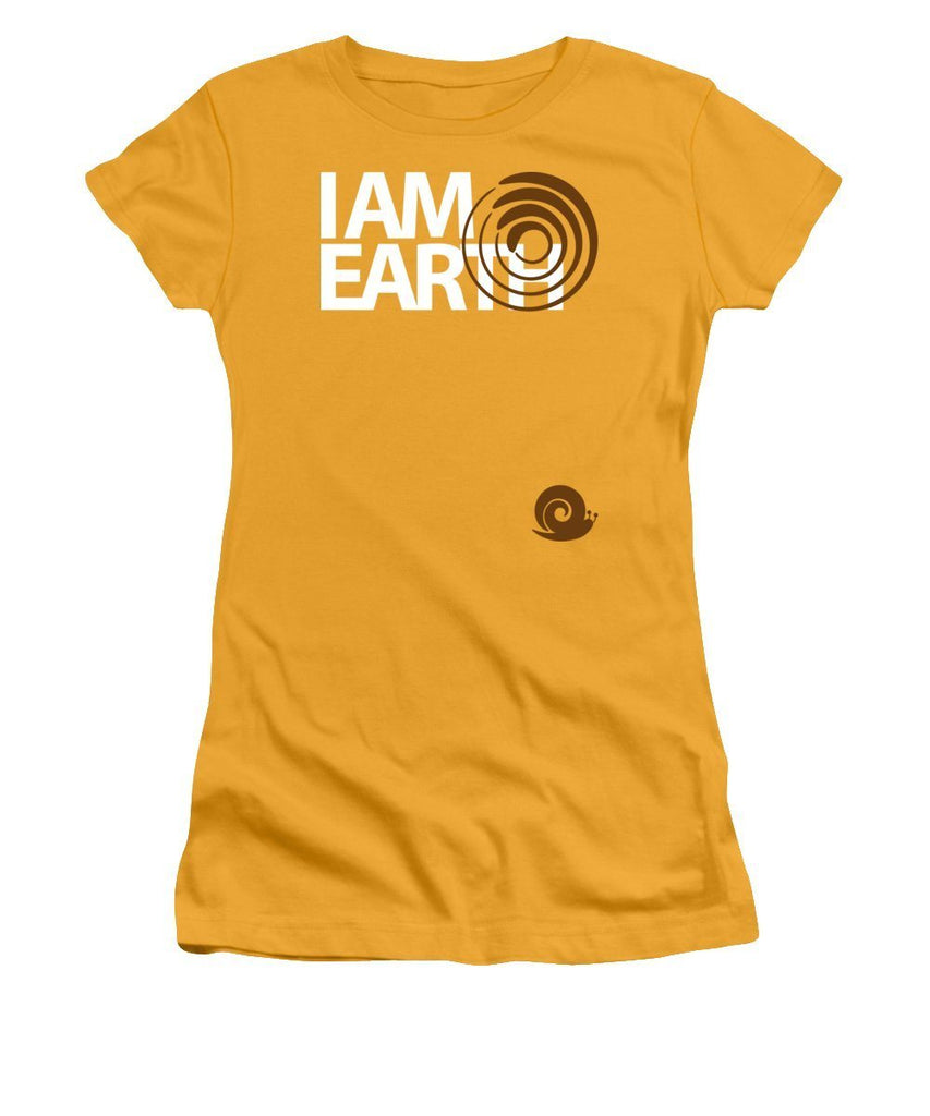 I am Earth 土 - Women's T-Shirt Athletic Fit -  Five Dimensions Spiritual Clothing