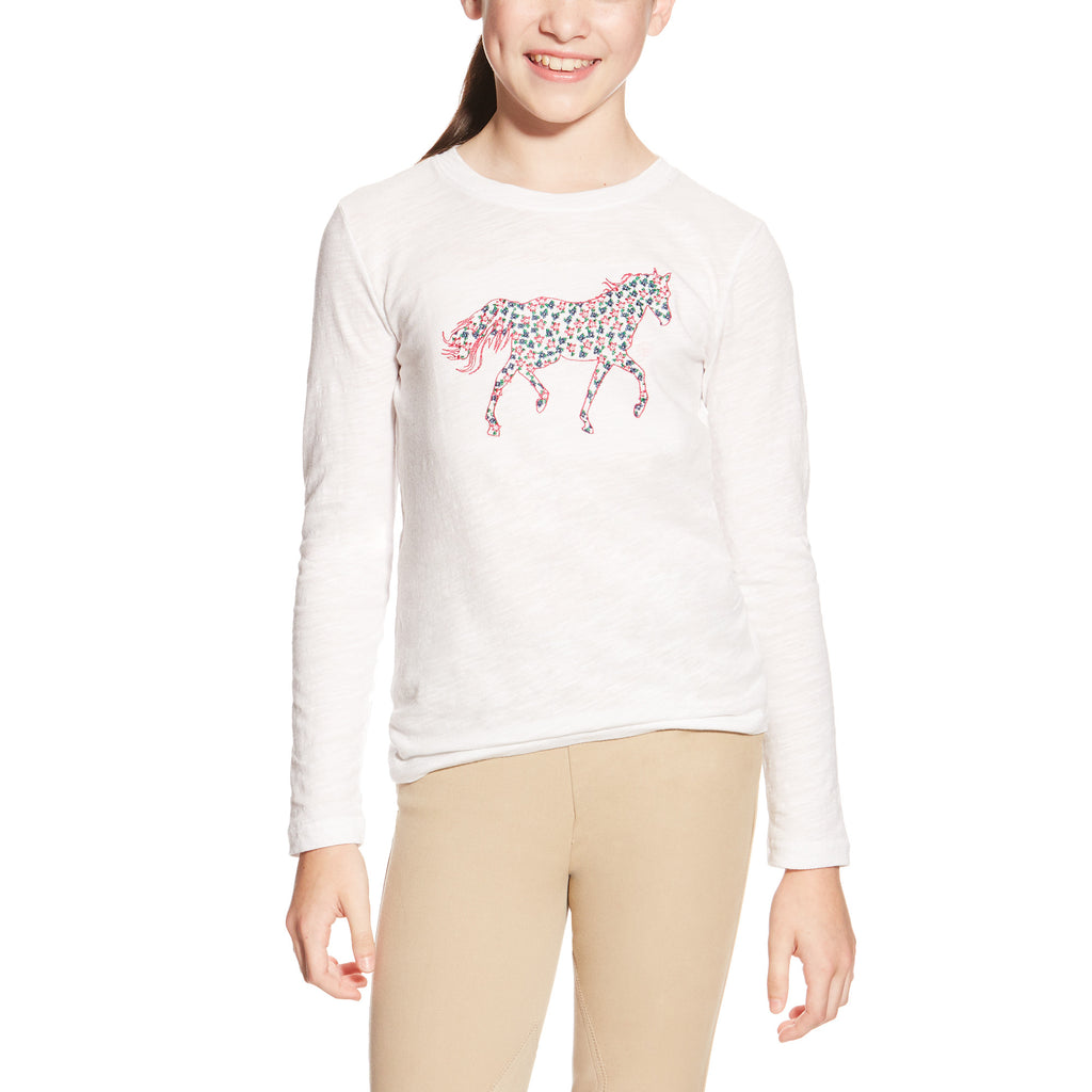 Ariat Embroidered Pony Top - Girls