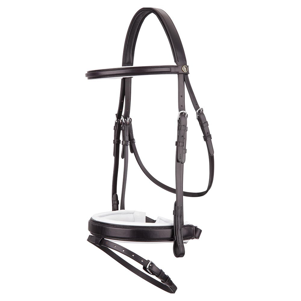 BR Equestrian Bridle Bentham II-black and white