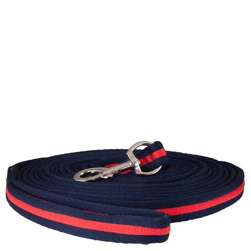 Premiere 8 Meter Lunging Line - navy and red