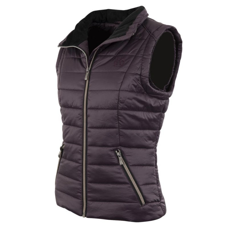BR Equestrian Paisley Vest- perfectly plum