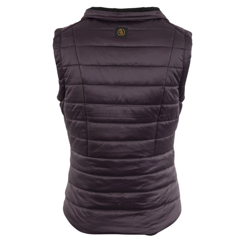 BR Equestrian Paisley Vest - perfectly plum back