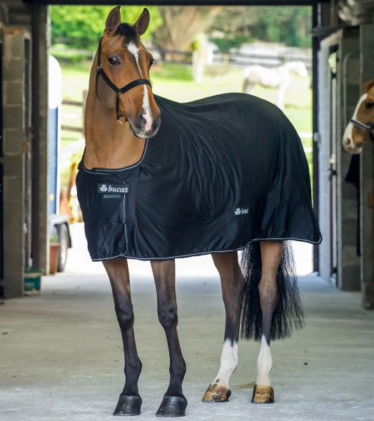 Bucas Shamrock Power Cooler Horse Blanket-black