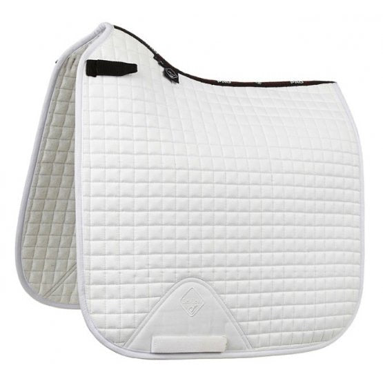 LeMieux ProSport Suede Dressage Saddle Pad - white