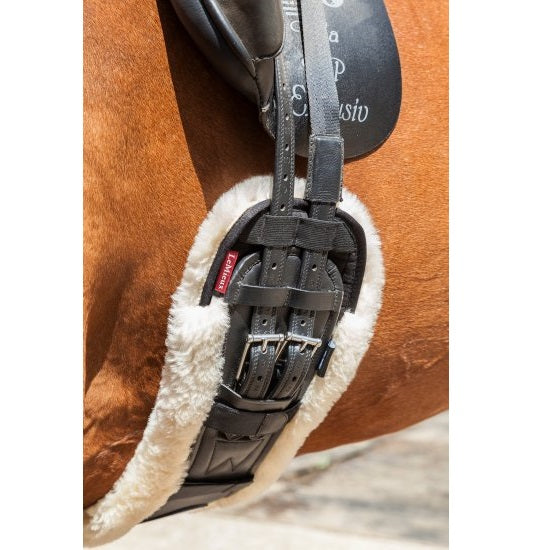 LeMieux Merino Wool Shaped Dressage Girth Cover - Merino Wool