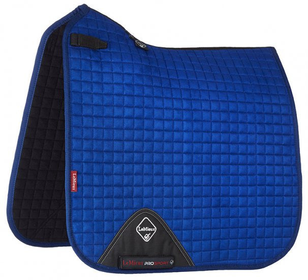 LeMieux ProSport Suede Dressage Saddle Pad -Bennetton Blue
