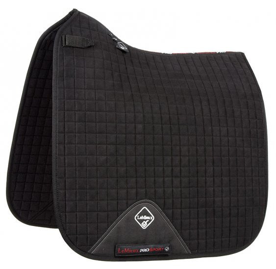 LeMieux ProSport Suede Dressage Saddle Pad -Black