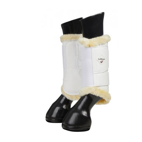 LeMieux Faux Leather Lambskin Over Reach Boots