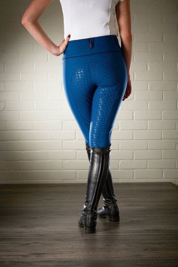 LeMieux Engage Breeches - midnight blue silicone