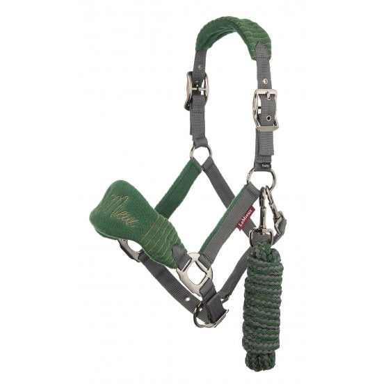 LeMieux Vogue Halter and Lead Rope - hunter green