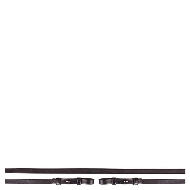 BR Equestrian Plain Leather Curb Reins