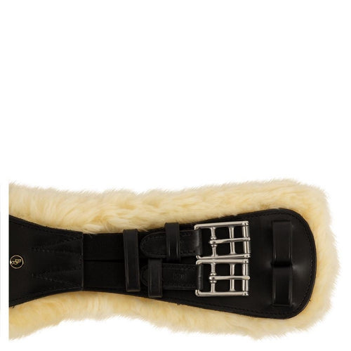 BR Equestrian Leather Sheepskin Dressage Girth - End