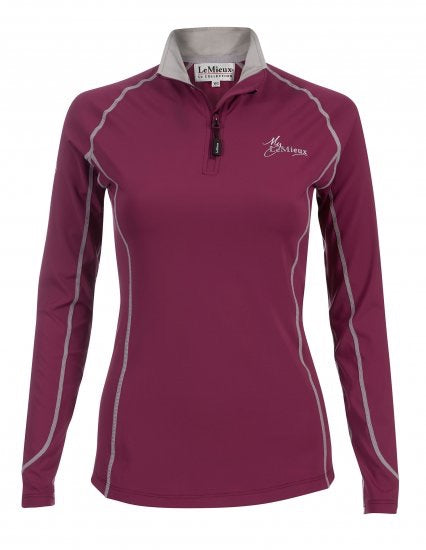 LeMieux Base Layer Shirt -Plum
