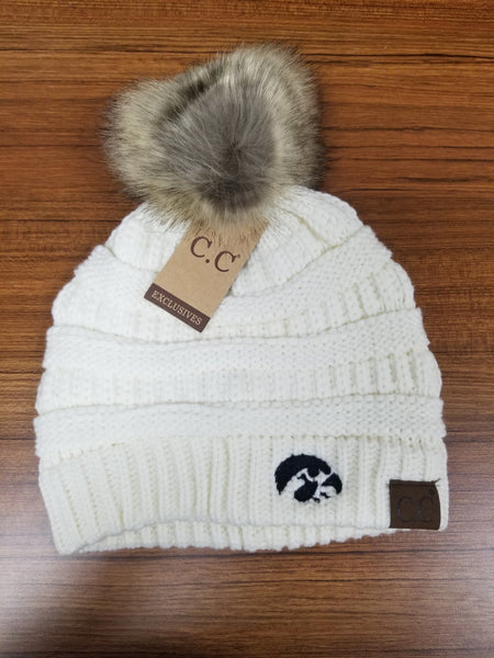 Iowa Hawkeyes CC Beanies with Pom