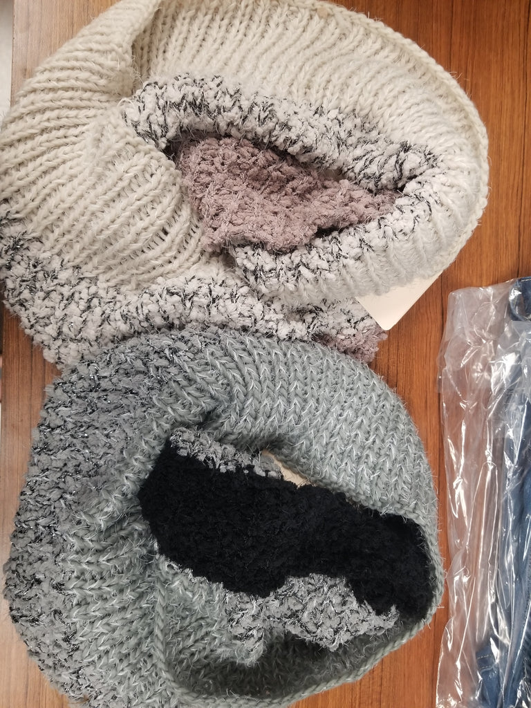 Two-Tone Infinity Scarves