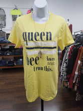 Load image into Gallery viewer, Queen Bee Yellow Graphic Tee