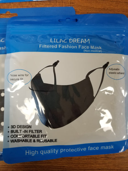 Cotton Reusable Face Masks with Adjustable Straps