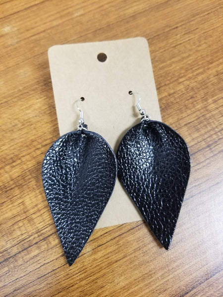 Leather Earrings - Variety of Colors & Sizes