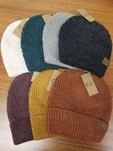 Load image into Gallery viewer, C.C. Chevron Knit Cuff Beanie