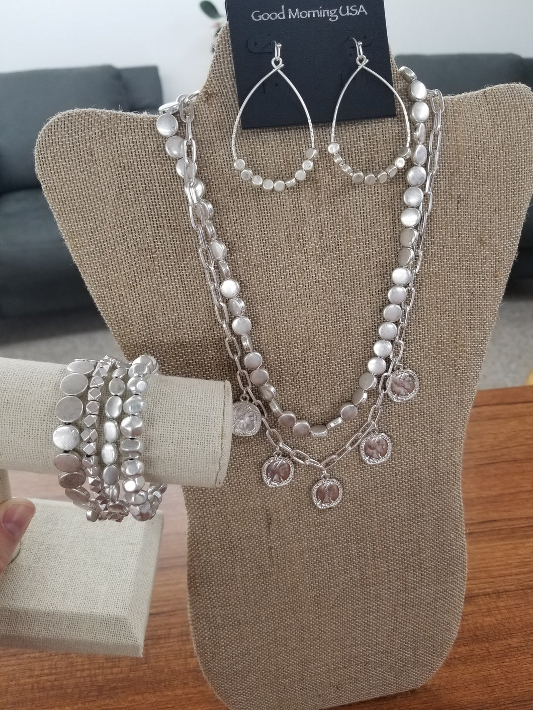 Silver Coin Necklaces - Variety