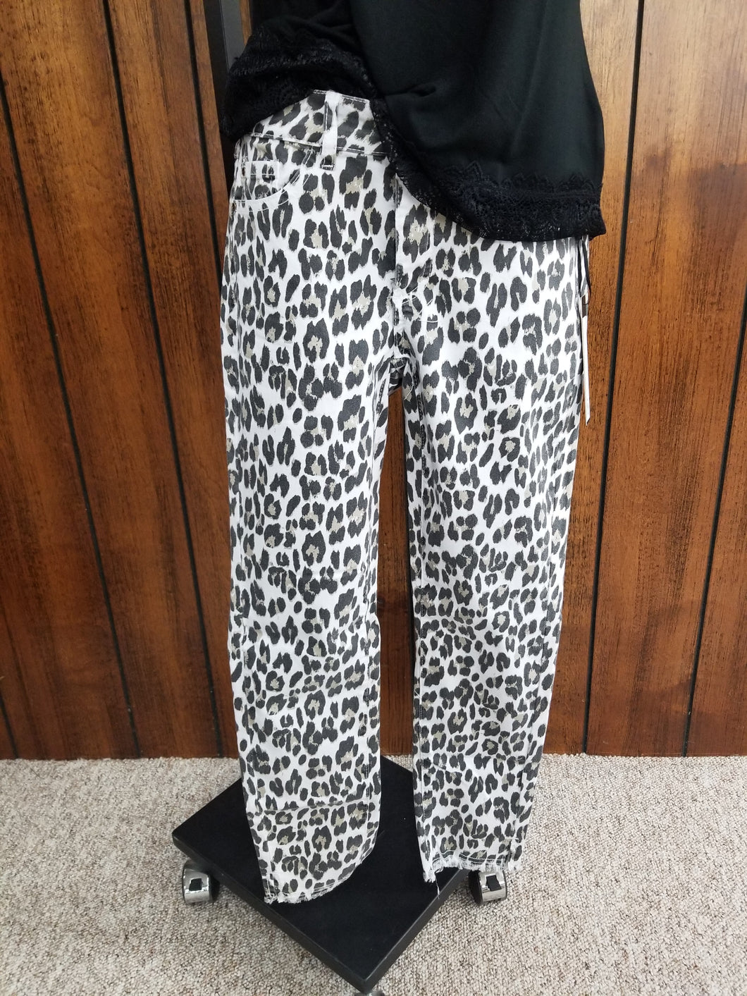 Charlie B White Leopard Pull-On Pant