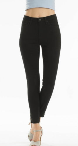 Kancan Black High Rise Ankle Skinny Jeans, KC5077BK