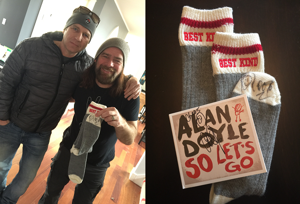 Allan Doyle Supporting Local Business - WickedWoolSocks.com