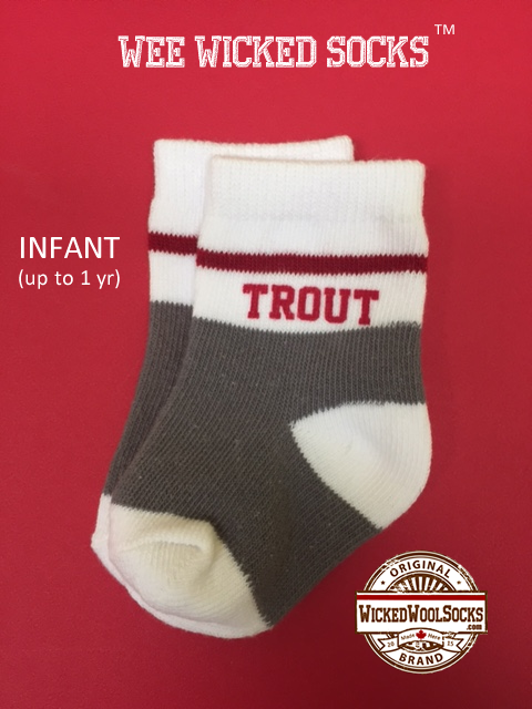 WEE WICKED SOCKS - SIZE INFANT - TROUT