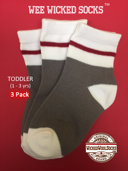 WEE WICKED SOCKS (3 PACK) - SIZE TODDLER