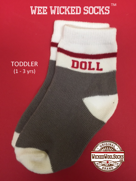 WEE WICKED SOCKS - SIZE TODDLER - DOLL