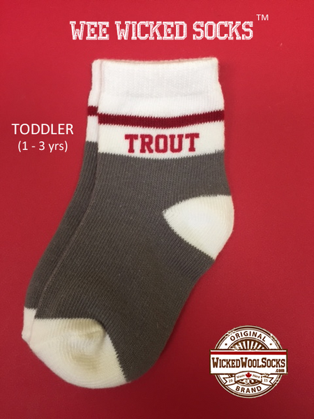 WEE WICKED SOCKS - SIZE TODDLER - TROUT