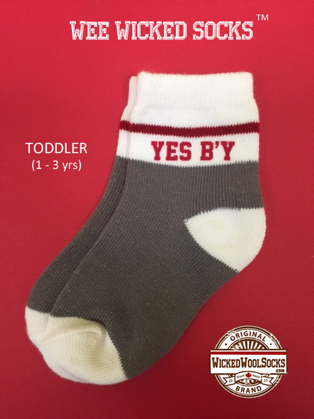 WEE WICKED SOCKS - SIZE TODDLER - YES B'Y