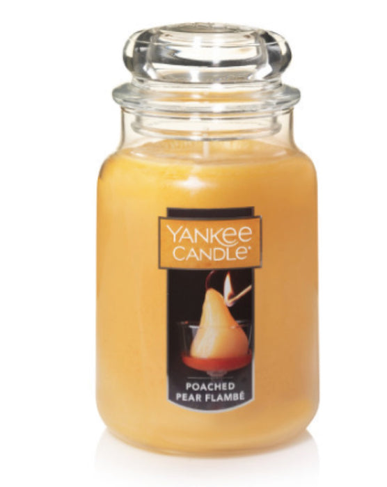 Poached Pear Flambe Large Jar Candle