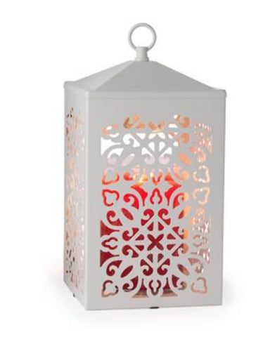 White Scroll Candle Warmer