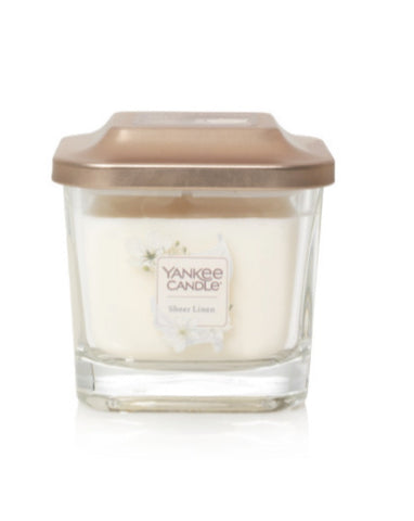 Sheer Linen Small 1-Wick Square Candle