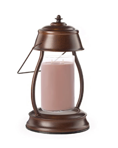 Rustic Brown Hurricane Candle Warmer