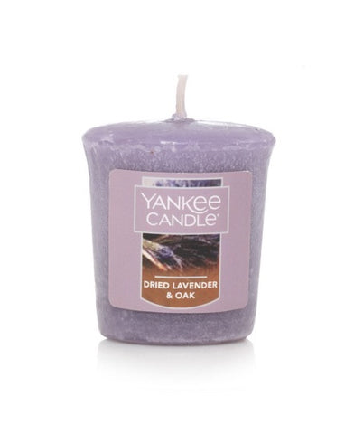 Dried Lavender & Oak Samplers Votive Candle