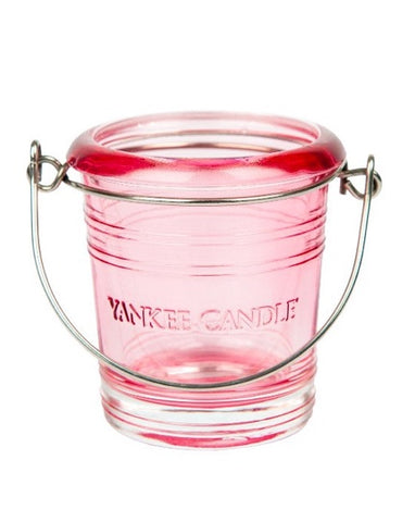 Pink Bucket Votive Holder