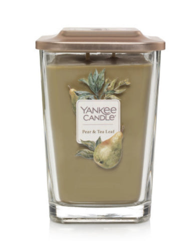 Pear & Tea Leaf Large 2-Wick Square Candle