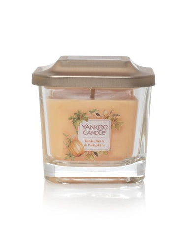 Tonka Bean & Pumpkin Small 1-Wick Square Candle