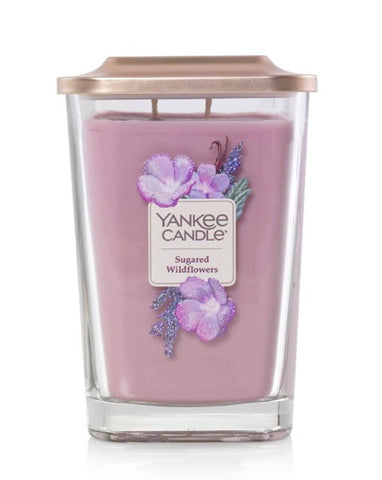 Sugared Wildflowers Large 2-Wick Square Candle
